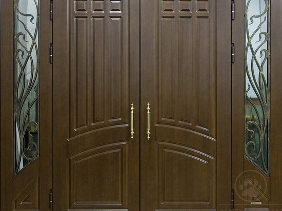 Dvupolye-dveri-iz-dereva-na-vhode-v-dom