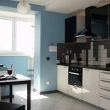 Объединение балкона и кухни. Варианты использования помещения
