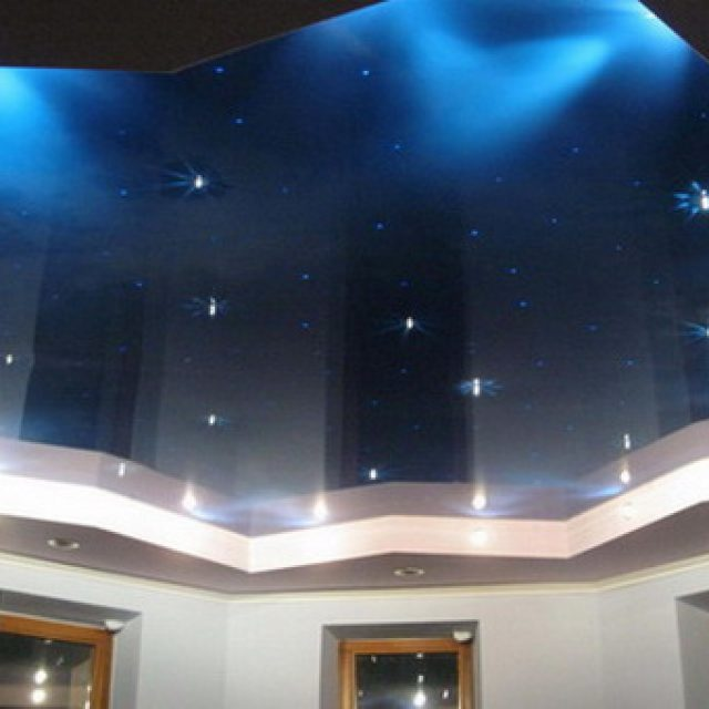 Украшение потолка звездным небом