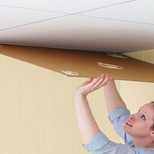 Советы по наклейке потолочной плитки